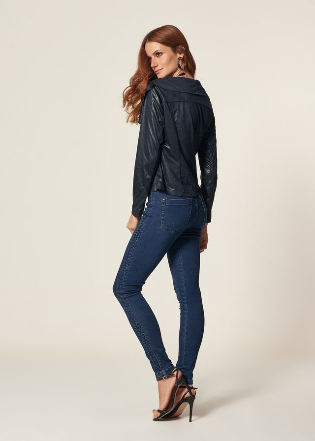 5b86d85a2f Calça Jeans Skinny Nervura Lateral Calça Jeans Skinny Nervura Lateral