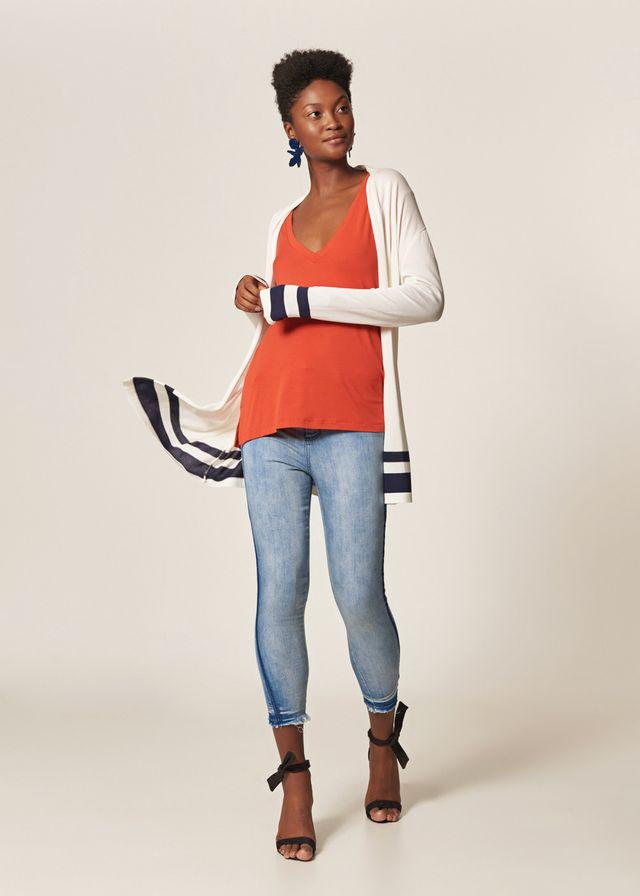 Calça Jeans Skinny Detalhe Lateral