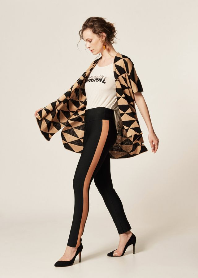 Calça Skinny Tricot Faixa Lateral