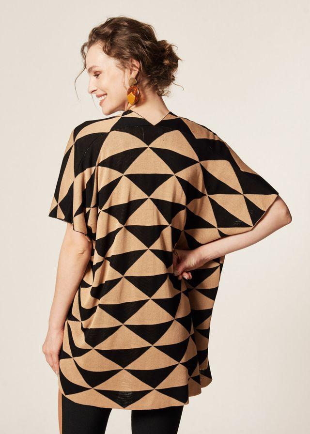 Kimono Tricot Padrão Geométrico